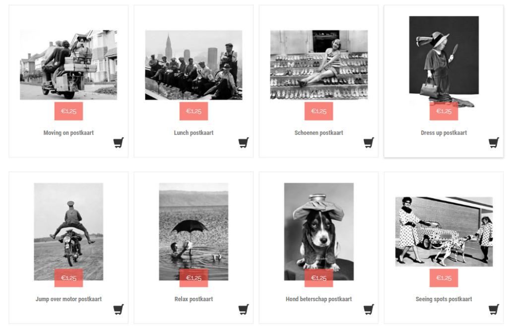 zwart wit postkaarten