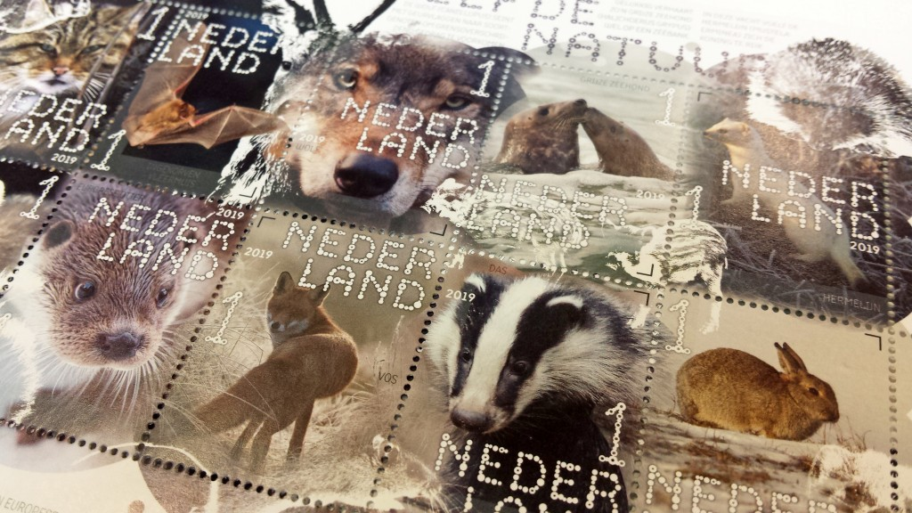 druk en vorm postzegels